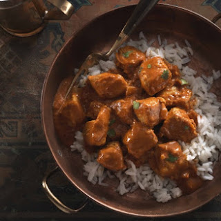No-Butter Chicken with Jasmine Rice.