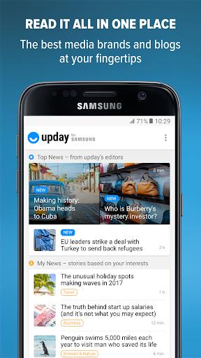 upday news for Samsung Screenshots 1