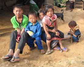 Photo: Day 300 - Kids in Village (Note Boy and Knife on Right!)