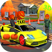Super Halloween monster party car taxi service