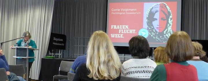 Corrie Voigtmann vom Flüchtlingsrat Düsseldorf