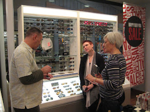 Photo: David and Pat shop for sunglasses before facing the AZ sun.