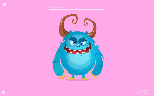 Funny Monsters HD Wallpaper New Tab Theme