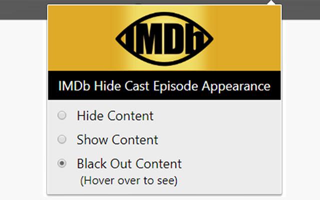 IMDb Hide Cast Episode Appearance