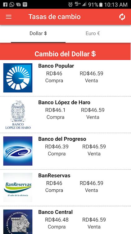 Tasas Del Dollar Y Euro En Rd