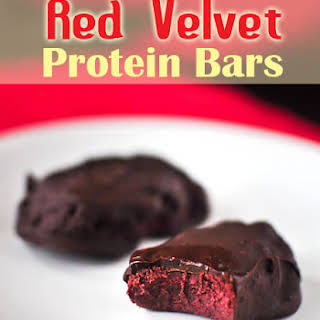 Homemade Red Velvet Protein Bars.