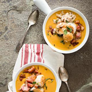 Sweet Potato Chowder with Pancetta Chunks