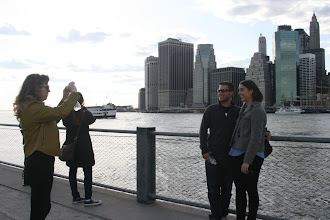 Photo: Photography in the Brooklyn Bridge Park with lower Manhattan in the background.