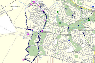Photo: Overview of walk 9.3Km. Map from OSM NSW Cycle version