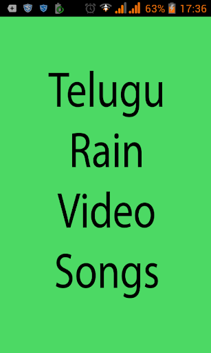 Telugu Rain Video Songs