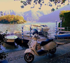 Photo: Lake Como loves Vespa's