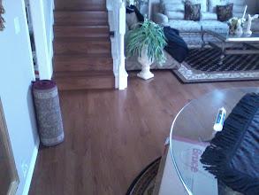 Photo: Bruce E537 engineered oak hardwood floor installed living room and steps