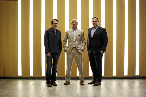 Vanguard: Navy Capital is lead by, from left, John Kaden, Kevin Gahwyler and Sean Stiefel. Picture: BLOOMBERG