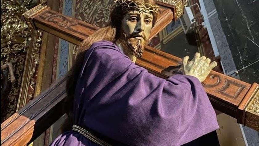 El Nazareno de Salzillo, tras su restauración en Murcia.