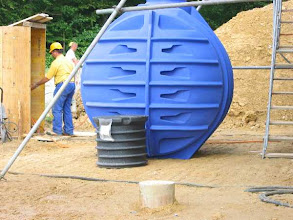 Photo: The 6000 Liter rainwater tank