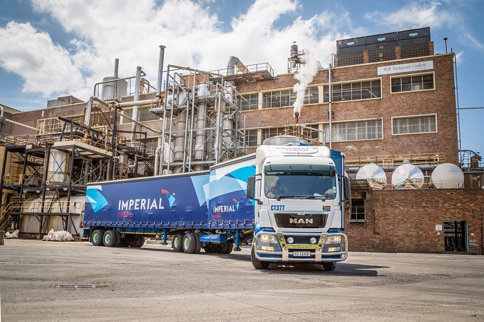 One of the MAN trucks with its branded Imperial Cargo trailer. Picture: SUPPLIED