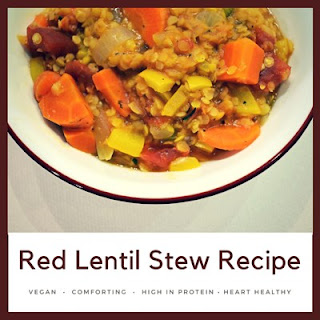 Red Lentil Stew – A Heart-healthy DASH Diet Comfort Food.