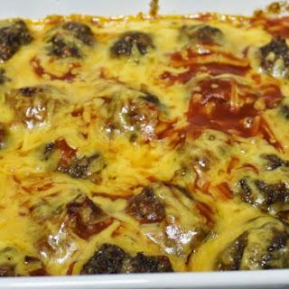 Cheesy Enchilada Meatballs