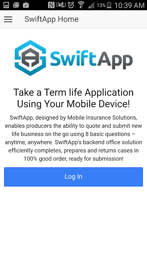 SwiftApp- screenshot
