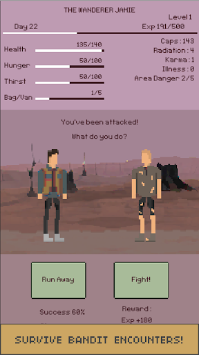 u2622 The Wanderer : Text-based Adventure Survival apkdebit screenshots 4