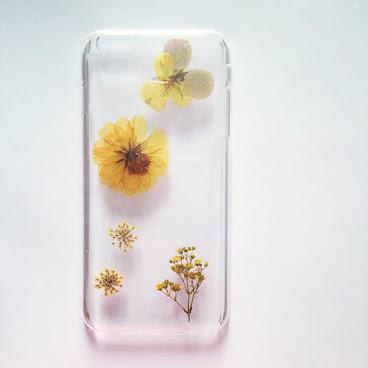 人手製滴膠壓花phone case