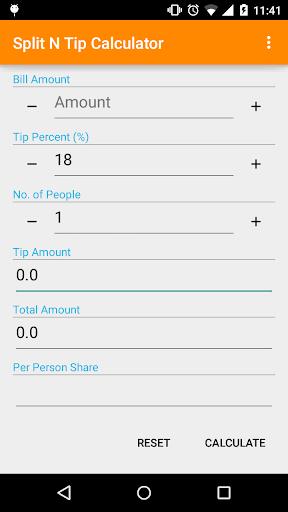 Split N Tip Calculator