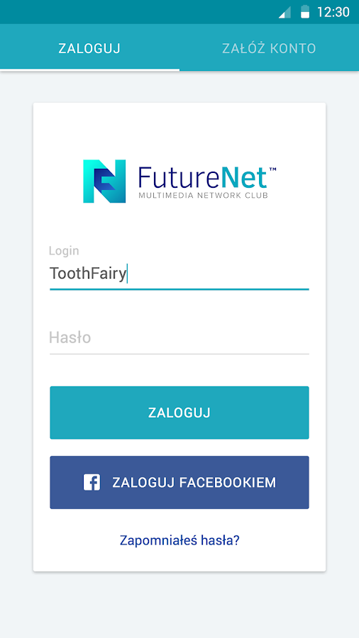 FutureNet your social app- screenshot