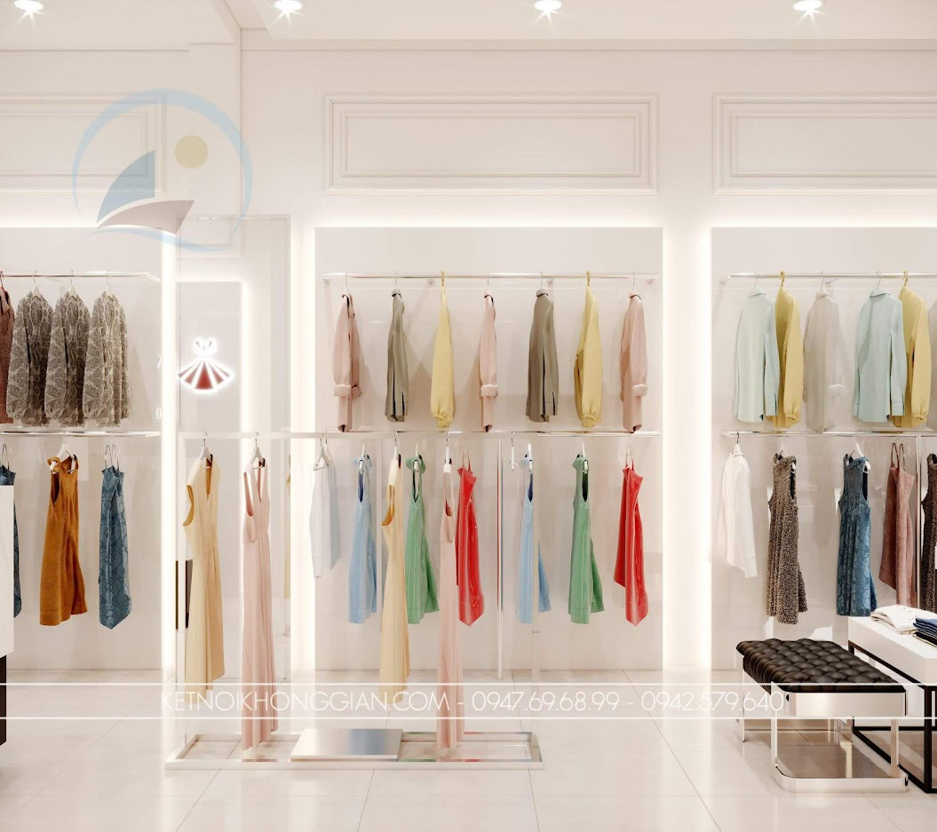 trang trí cửa hàng thời trang nữ