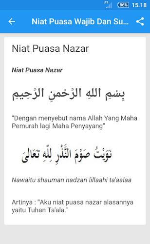 Niat Puasa Nazar