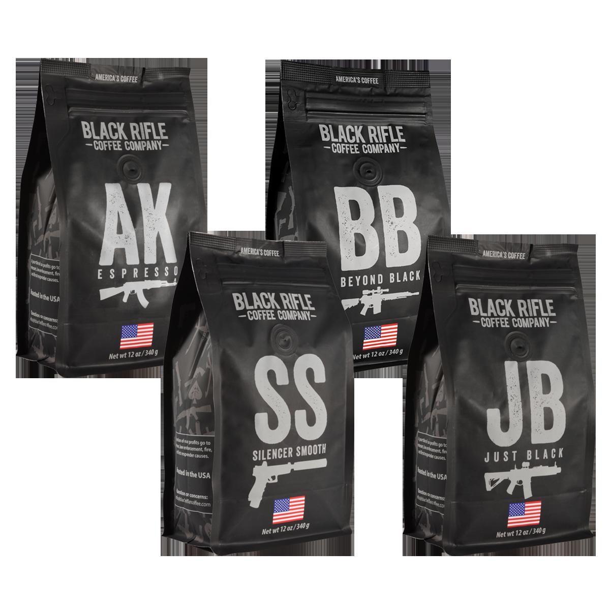 bags of black coffee