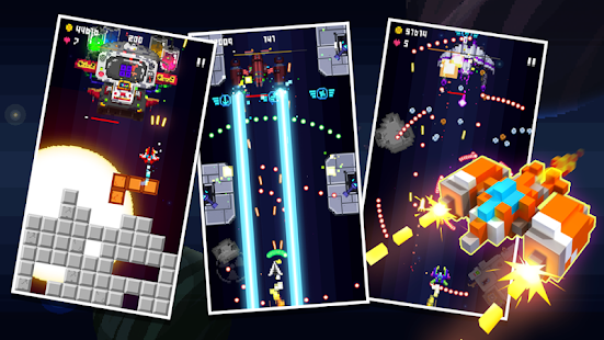 Space War: Pixel 2D Retro-Shooter Screenshot