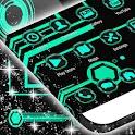 Neon Green Tech Theme GO icon