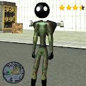 Jetpack army Stickman Rope Hero Sim icon