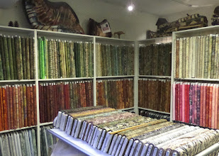 Photo: Most of their material  and patterns came from the US.  This is their batik section.