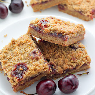 Brown Butter Cherry Crumb Bars