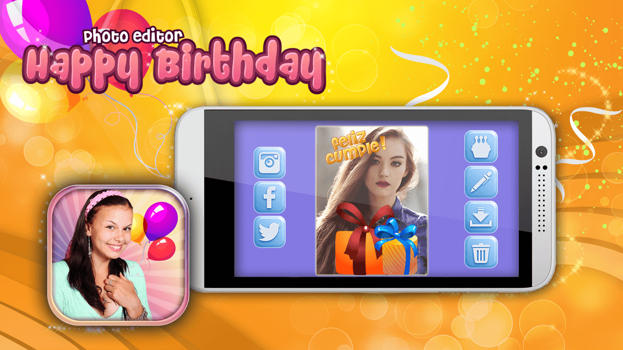 Happy birthday photo editor android apps on google play