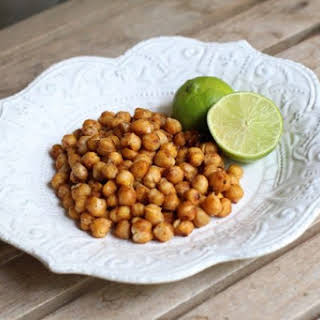 Chili-Lime Roasted Chickpeas.