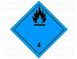 Класс 4.3 Вещества, выделяющие воспламеняющиеся газы при взаимодействии с водой