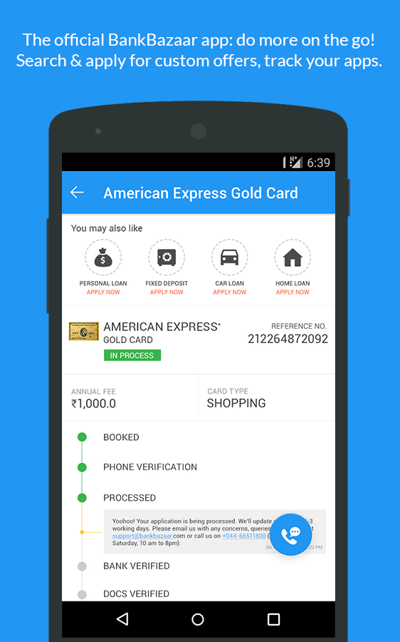 Credit Card,EMI Calc,Gold Rate- screenshot