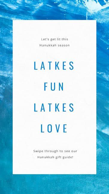 Latkes Fun - Hanukkah template