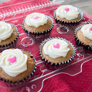 Spiced Applesauce Cupcakes with Cream Cheese Frosting.