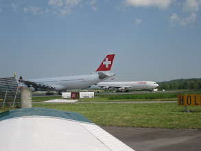 Photo: Another A340 is ready to line up the runway http://www.swiss-flight.net