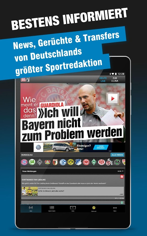 BUNDESLIGA bei BILD- screenshot