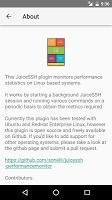 screenshot of JuiceSSH Performance Plugin