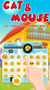 Mouse and Cat Theme&Emoji Keyboard - náhled