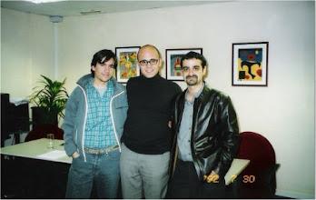 Photo: ...con Fernando López Menéndez y Ernesto García López en la ONCE