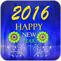 2016 New Year Greeting card icon