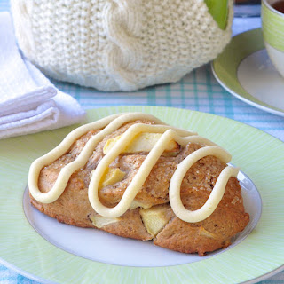 Apple Cinnamon Scones with Cream Cheese Glaze