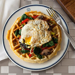 Biscuit and Egg Waffle