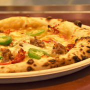 Spicy Sausage & Peppers Pizza